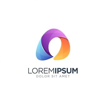 Шаблон письма a логотип