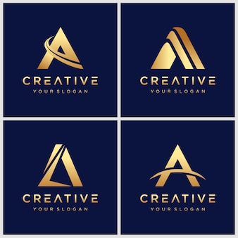 Золотая буквица a логотип