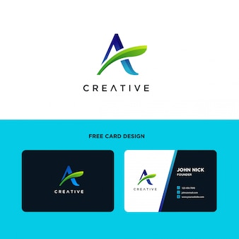 Буква a шаблон дизайна логотипа