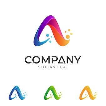 Креативное письмо a дизайн логотипа