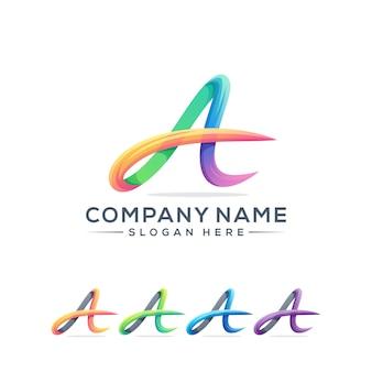 Буква a дизайн логотипа для вашей компании