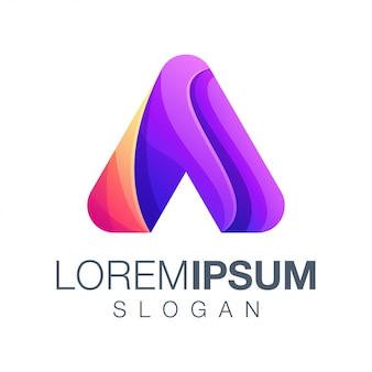 Буква a градиент логотип