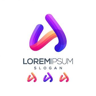 Буква a градиент цветной логотип