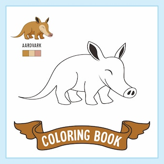 Aardvark animals coloring pages book