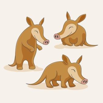 Aardvark cartoon cute animals