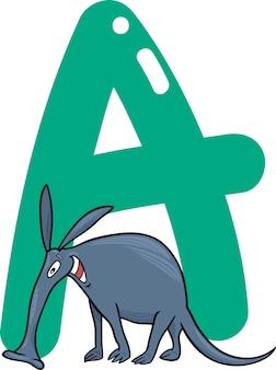 A for aardvark