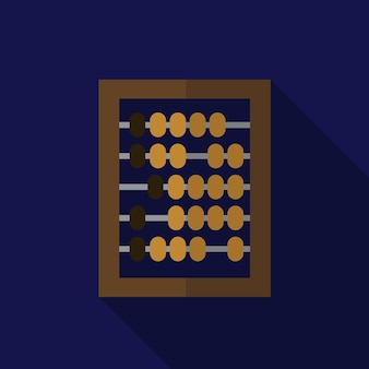 Abacus flat icon illustration isolated vector sign symbol