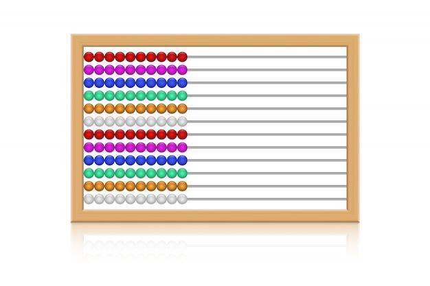 Abacus векторная иллюстрация дизайн на белом фоне