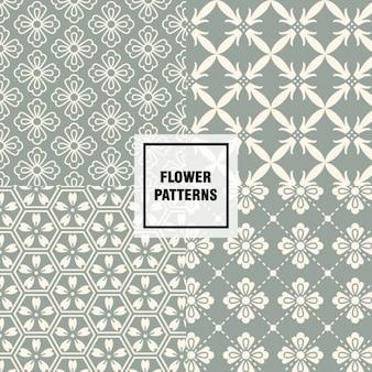 추상 모양 꽃 패턴
