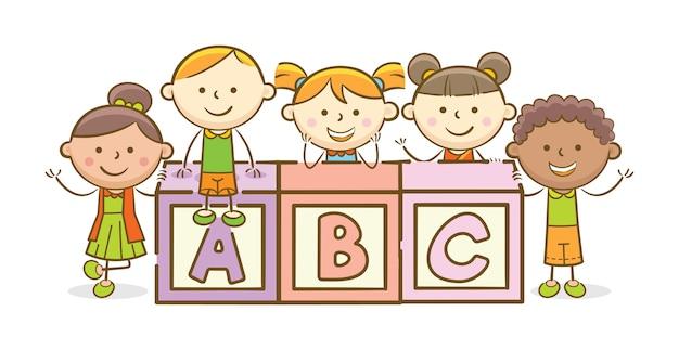 Блок алфавита abc