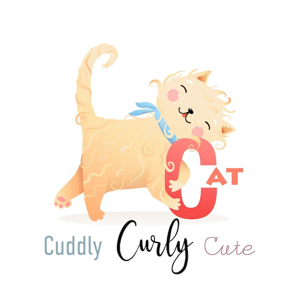 Азбука азбука для детей cat for c
