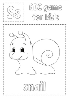 Abc game for kids. alphabet coloring page.