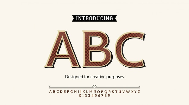 Abc書体。ラベルおよび種類の異なるデザイン用