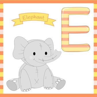 かわいい子供たちabc動物のアルファベット