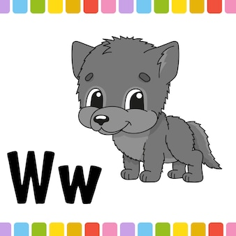 Животный алфавит. зоопарк abc. мультфильм милый животных