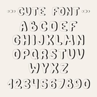 シンプルなフォントで完全なabcアルファベットを設定