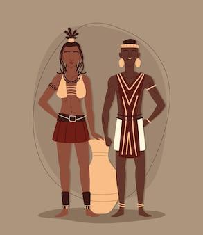 Aborigines tribal couple