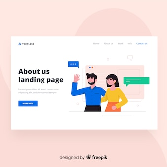 About us landing page design