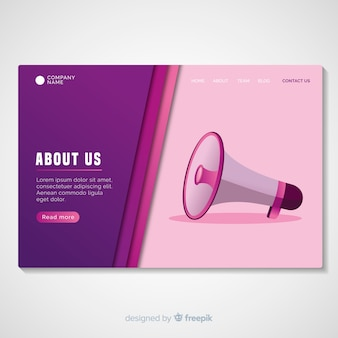 About us landing page template