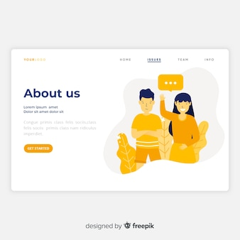 About us landing page