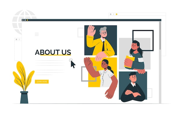 About us page concept illustration