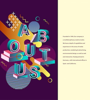 About us typography design