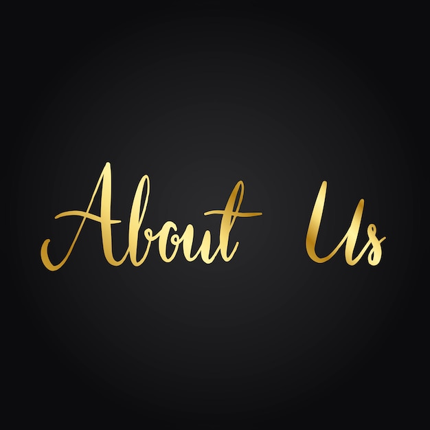 About us typography style vector