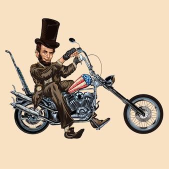 Abraham lincoln motorbike