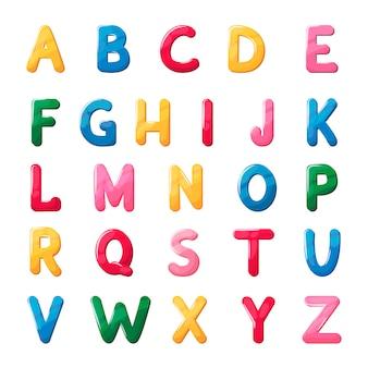 아이들을위한 abs 글꼴 젤리 알파벳