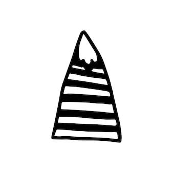 Гора абстрактного скандинавского дизайна для украшения интерьера, печати плакатов, поздравительных открыток, бизнес-баннера, упаковки в современном скандинавском стиле в векторе