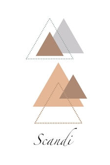 装飾インテリア、印刷ポスター、素晴らしいカード、ビジネスバナー、ベクトルでモダンなスカンジナビアスタイルで包むための抽象的な北欧の幾何学的なデザイン