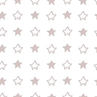 装飾インテリア、印刷ポスター、素晴らしいカード、ビジネスバナー、ベクトルでモダンなスカンジナビアスタイルで包むための星と抽象的な北欧のトランディパターン。パステルカラー。