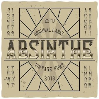 Carattere tipografico di assenzio