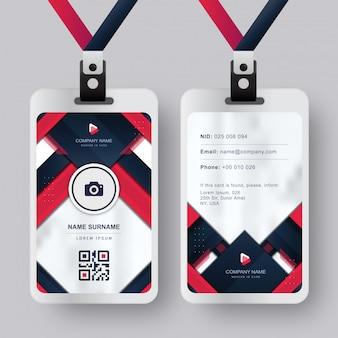 赤青海軍absract背景を持つ現代のidカード