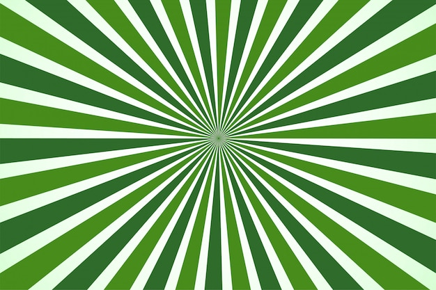 Abstack green background cartoon style. bigbamm or sunlight, sunburst
