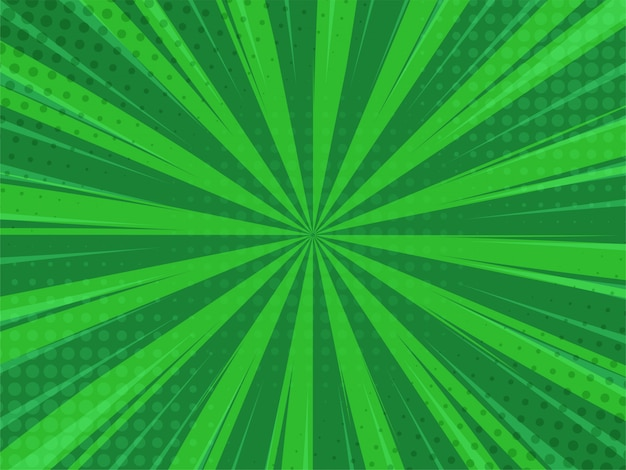Abstack green background cartoon style. bigbamm or sunlight.
