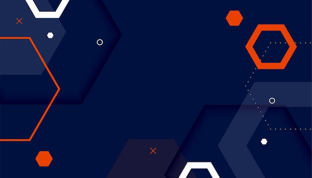 Абстрактный фон шестиугольника в стиле мемфис