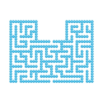 Abstact labyrinth. educational game for kids.