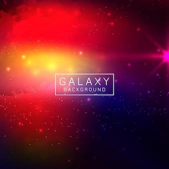 Abstarctカラフルな銀河の背景