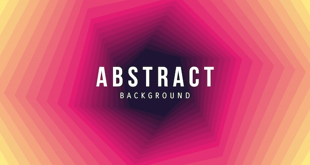 Abstarct red yellow hexagon background