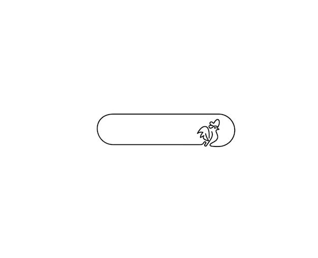 Шаблон логотипа abstarct петух (курица). векторная иллюстрация.