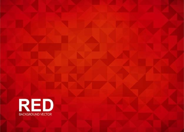 Abstarct赤いポリゴンの背景ベクトル