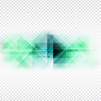 透明の背景にカラフルな多角形のデザインabstarct