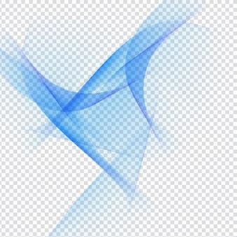 透明な背景のabstarct青い波状のデザイン