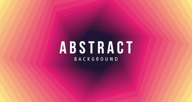 Abstarct赤黄色六角形の背景