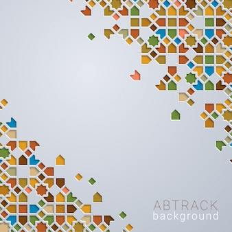 Abstrac background colorfull morocco geometric
