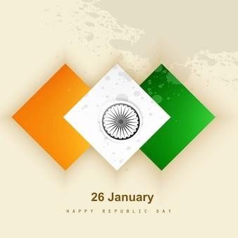 インド独立記念日のabstrac背景 無料ベクター