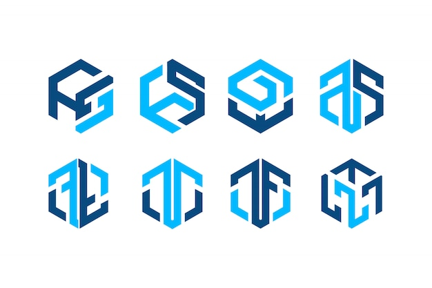 Abstrac blue hexa logo