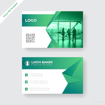Abstrac companyt business card design