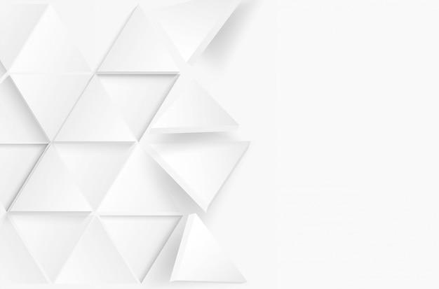 紙のスタイルで抽象的な三角形の白い背景